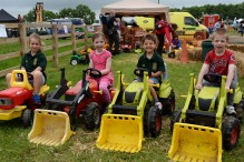 North Bucks Country Show. Children's tractor driving.